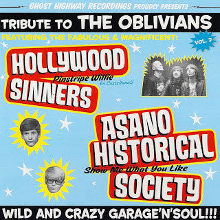"V/A- TRIBUTE TO THE OBLIVIANS Vol. 2 7"" LIMITED TO 250 COPIES - Ghost Highway - Dead Beat Records"