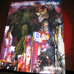 One Win Choice /Heartfelt Discord- Split LP ~RARE RED WAX - Eternal Hope - Dead Beat Records