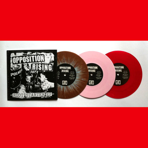 "Opposition Rising- Riot Starter 7"" ~EX TOXIC NARCOTIC / RARE RED WAX!"