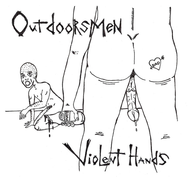 "Outdoorsmen- Violent Hands 7"" ~KILLER! - Floridas Dying - Dead Beat Records"