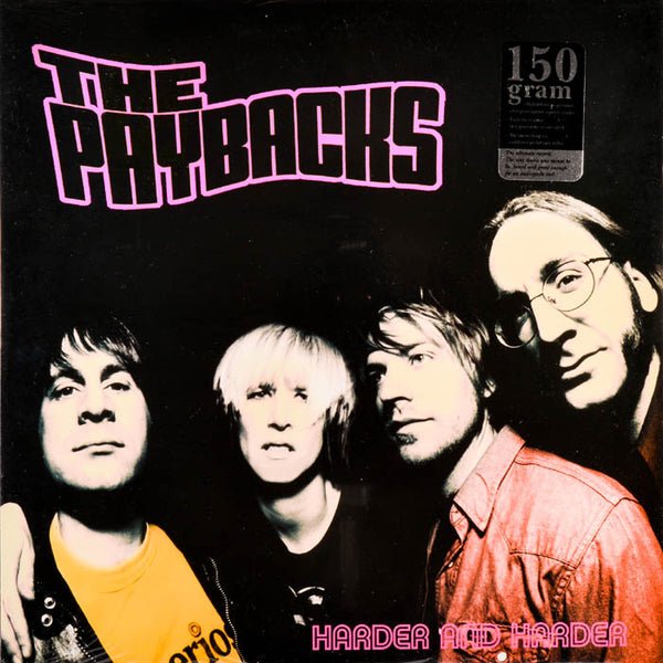 Paybacks- Harder And Harder LP ~RARE OPAQUE PINK WAX / GATEFOLD COVER!