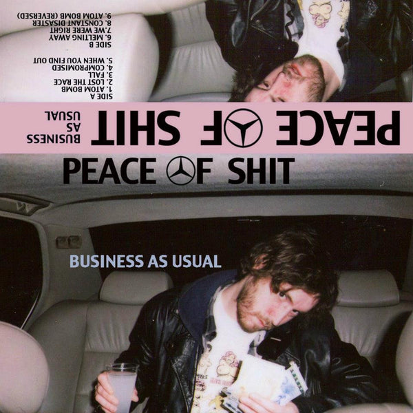 Peace of Shit- Business As Usual CS  ~EX DIGITAL LEATHER - Rainy Road - Dead Beat Records