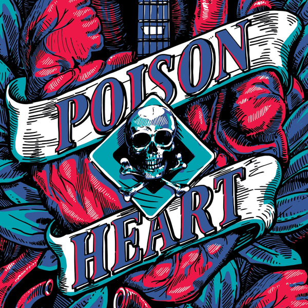 Poison Heart- Heart Of Black City LP ~HELLACOPTERS!