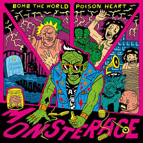 Poison Heart / Bomb The World- Monsterace CD ~GLUECIFER!