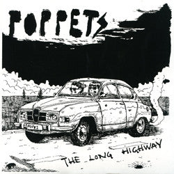 "Poppets- The Long Highway 7"" ~WHITE WAX LTD TO 50! - Ken Rock - Dead Beat Records"