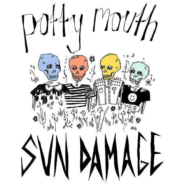 Potty Mouth- Sun Damage LP ~BIKINI KILL! - Feeble Minds - Dead Beat Records