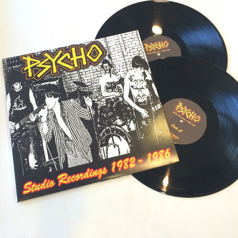 Psycho- Studio Recordings 1982 - 1986 2x LP GATEFOLD ~REISSUE! - Welfare Records - Dead Beat Records - 1