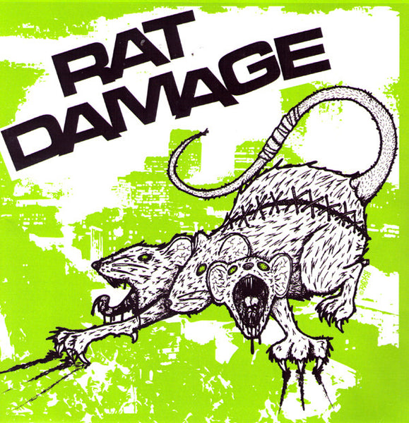 "RAT DAMAGE- S/T 7"" - FLAT BLACK - Dead Beat Records"