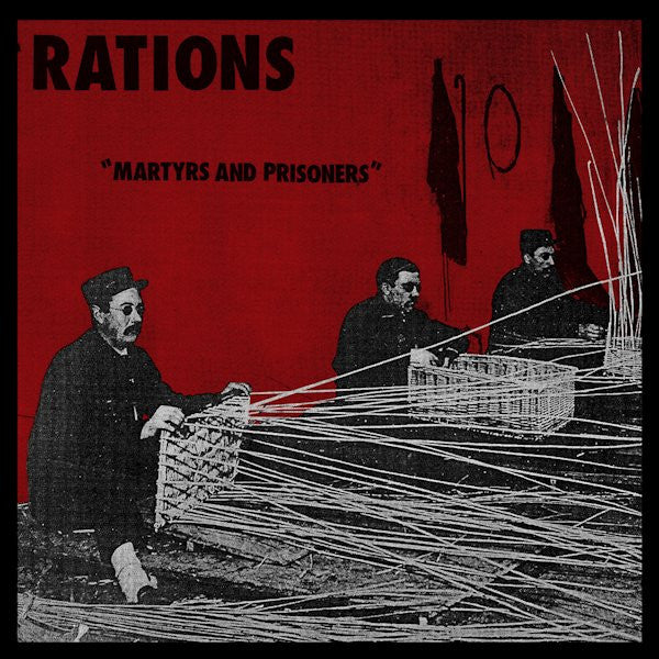 "Rations- Martyrs and Prisioners 7"" ~LTD WHITE WAX! - Lost Cat - Dead Beat Records"