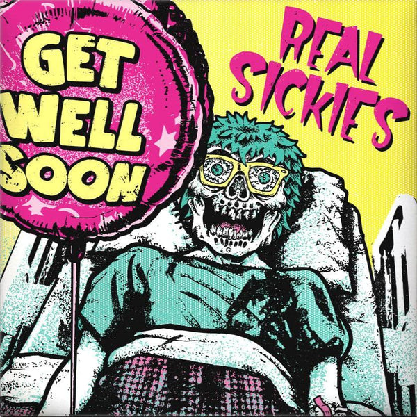 Real Sickies- Get Well Soon LP  ~RARE YELLOW + GREEN COVER LIMITED TO 100!