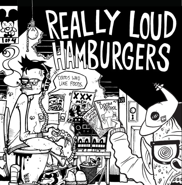 "Really Loud Hamburgers- Dudes 7"" ~EX- THOMAS FUNCTION! - Floridas Dying - Dead Beat Records"