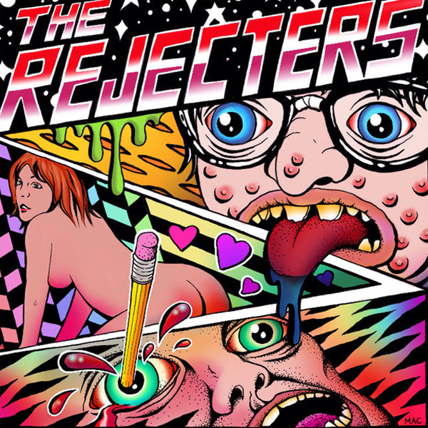 "Rejecters- S/T 7""~EX VOMIT SQUAD / DAYLIGHT LOVERS + RARE MAC BLACKOUT COVER!"
