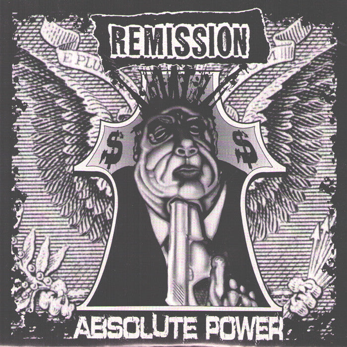 "Remission- Absolute Power 7"" ~FIRST PRESS ON WHITE WAX!"