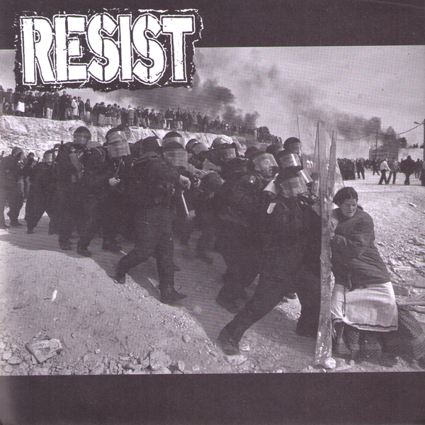 "Resist- Burial Ground 7"" ~FOLD OUT POSTER COVER!"