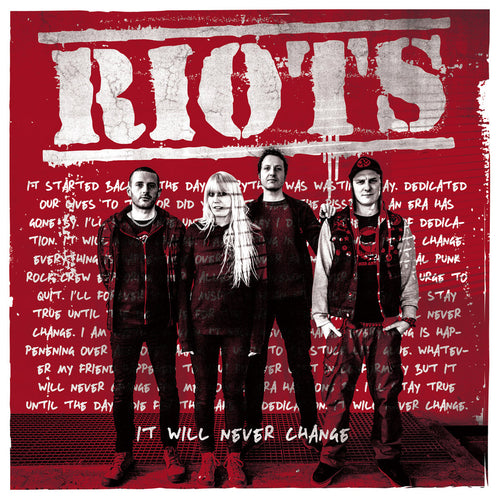 Riots- It Will Never Change LP ~RARE TRANSPARENT RED WAX LTD TO 100!