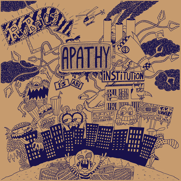 Rubrics- Apathy Is An Institution LP - Lost Cat - Dead Beat Records