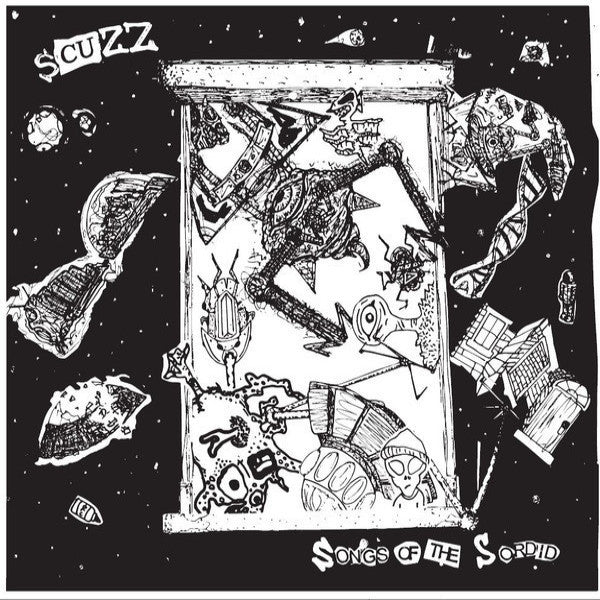 Scuzz- Songs Of The Sordid LP ~BLUE WAX LTD 100! - Loud Punk - Dead Beat Records - 1