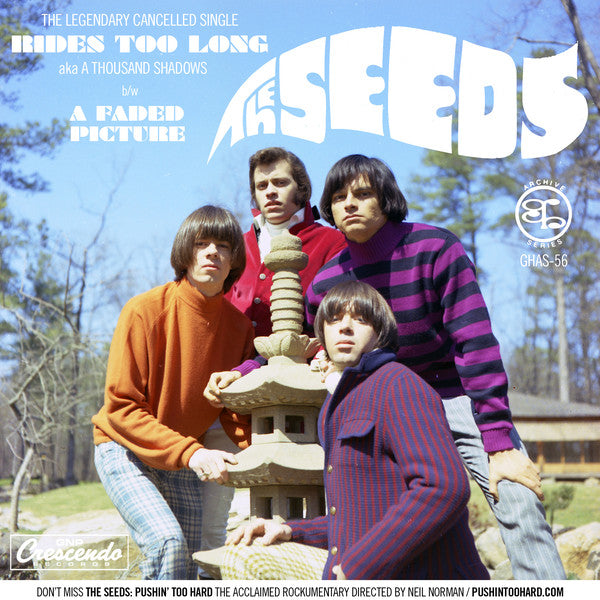 "Seeds- A Thousand Shadows 7"" ~RARE UNEARTHED RECORDINGS FROM 1967!"