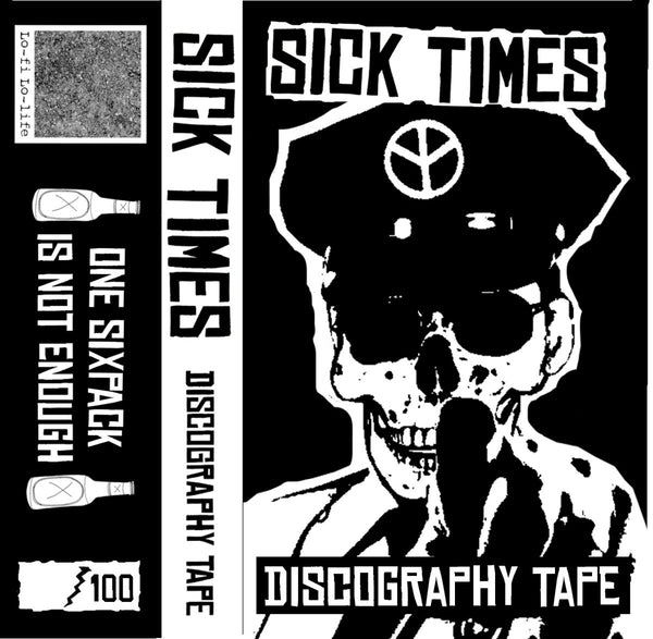 Sick Times- Discography Tape CS ~100 HAND NUMBERED!