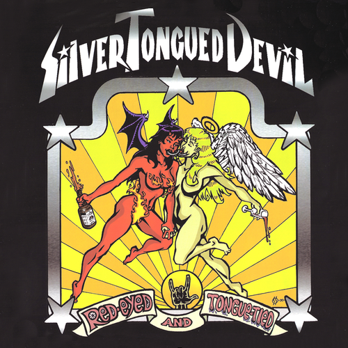 Silver Tongued Devil- Red Eyed And Tongue Tied LP ~EX VOLCANO DOGS / RARE RED WAX!