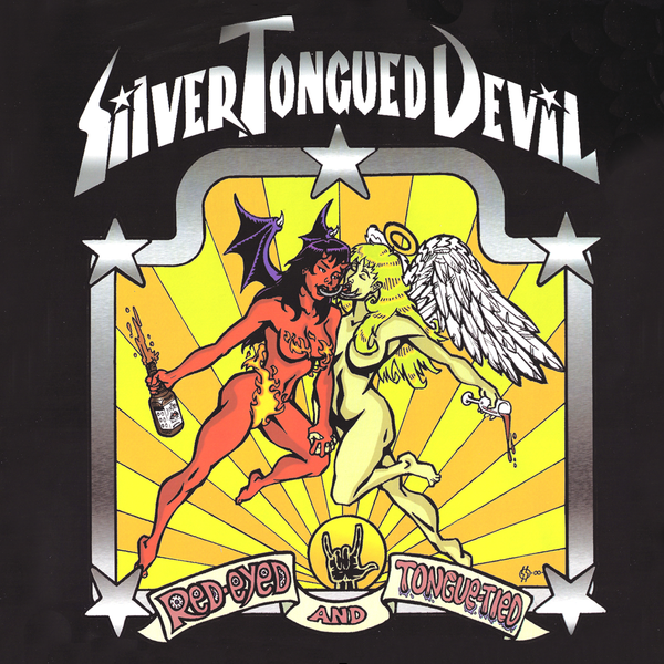 Silver Tongued Devil- Red Eyed And Tongue Tied LP ~NASHVILLE PUSSY / RARE RED WAX!