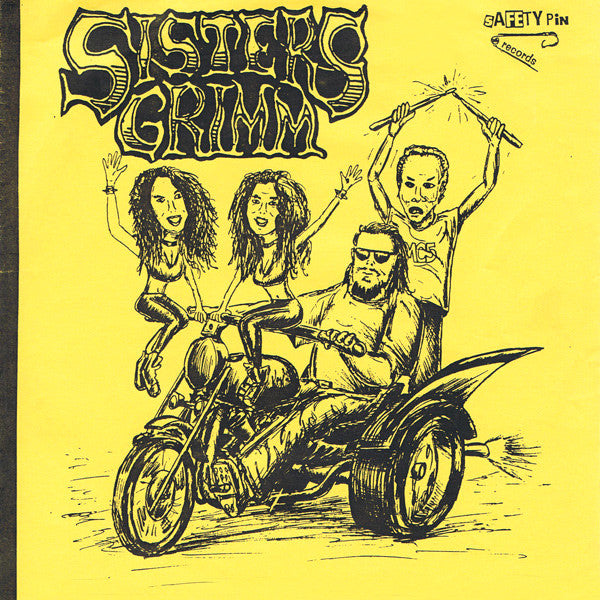 "Sisters Grimm- S/T 7"" ~100 PRESSED ON PINK WAX! - Safety Pin - Dead Beat Records"