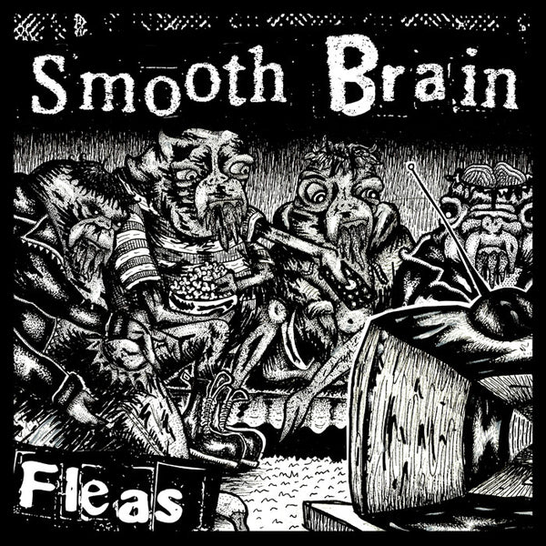 "Smooth Brain- Fleas 7"" - Lost Cat - Dead Beat Records"