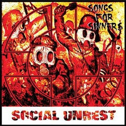 "Social Unrest- Songs For Sinners 7"" ~ RARE PURPLE WAX!! - Dr Strange - Dead Beat Records"