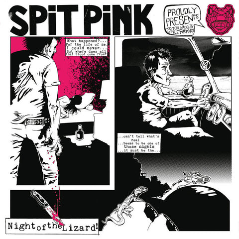 Spit Pink- Night Of The Lizard LP ~WITH GIANT POSTER!