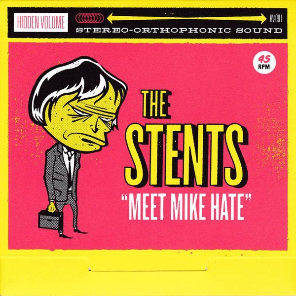"The Stents- Meet Mike Hate 7"" ~RARE RED WAX! - Hidden Volume - Dead Beat Records"