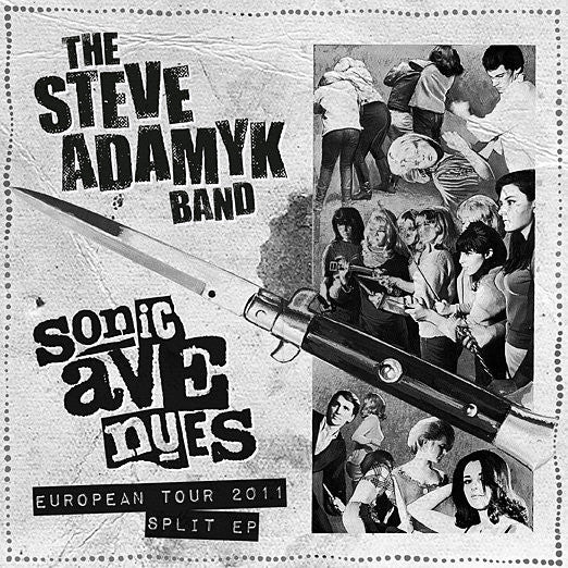 "Steve Adamyk Band/Sonic Avenues- Split EURO TOUR 7"" - Corporate Rock - Dead Beat Records"