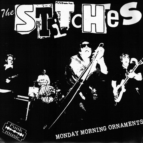 "The Stitches- Monday Morning Ornaments 7"" ~RARE LIVE COVER! - NO FRONT TEETH - Dead Beat Records"