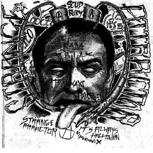"Strange Attractor- It's Always Halloween 7"" ~COVER LTD TO 83! - Goodbye Boozy - Dead Beat Records"