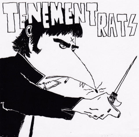 "Tenement Rats- S/T 7"" ~ALTERNATE COVER LTD TO 100!"