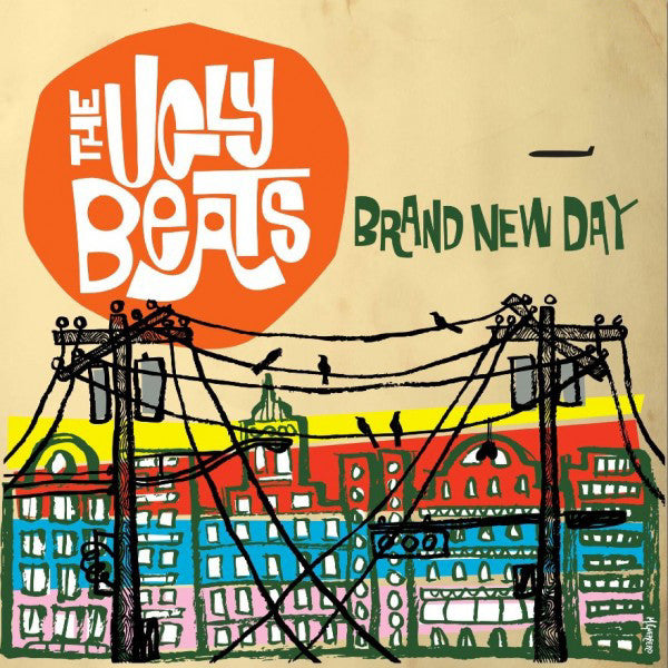 The Ugly Beats- Brand New Day LP ~RARE RED WAX! - Get Hip - Dead Beat Records