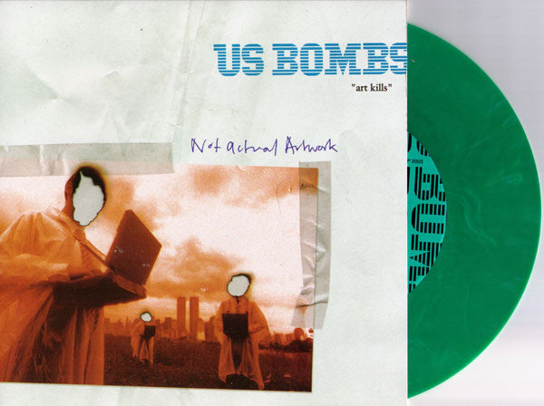 "US BOMBS- 'Art Kills' 7"" RARE GREEN WAX! - TKO - Dead Beat Records"