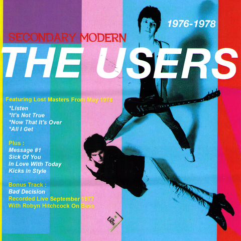 The Users- Secondary Modern CD ~REISSUE! - Bin Liner - Dead Beat Records