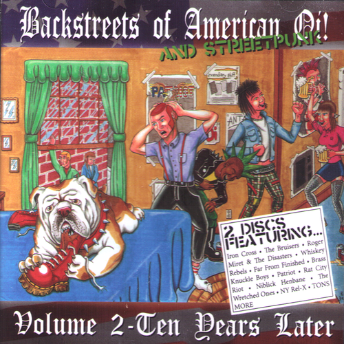 V/A- Backstreets Of American Oi 2xCD ~WITH IRON CROSS / WRETCHED ONES / BRUISERS!