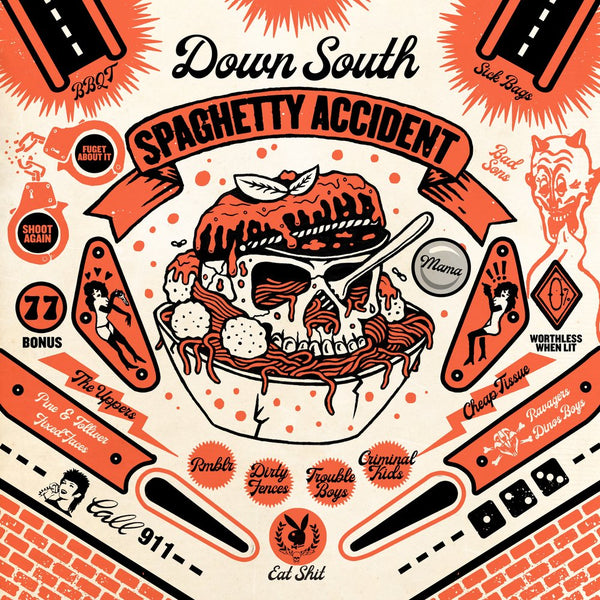 V/A- Down South Spaghetty Accident LP ~W/ BBQT, RAVAGERS, CRIMINAL KIDS!