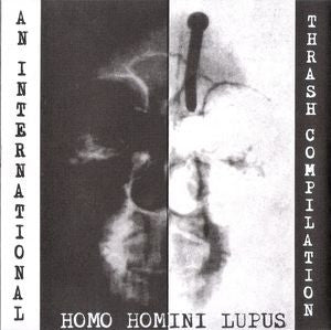 "V/A- Homo Homini Lupus 7"" ~PINK FLAMINGOS! - Farewell Records - Dead Beat Records"