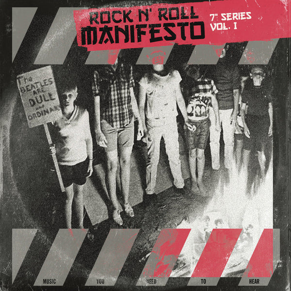 "V/A- Rock 'n Roll Manifesto 7"" Series Vol. 1 7"" ~W/ TIGER TOUCH, MISSILE STUDS + RARE BONE WHITE WAX!"