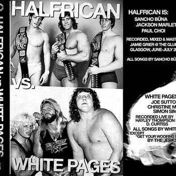 White Pages/Halfrican- Split CS TAPE ~50 COPIES MADE! - Can't Stand Ya - Dead Beat Records