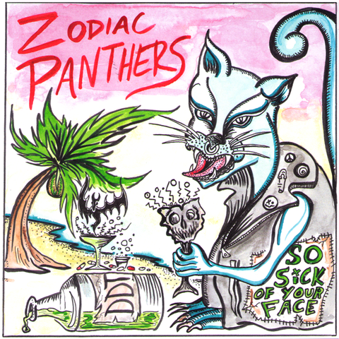 "Zodiac Panthers/Male Men - Split 7"" ~RARE ALT COVER LIMITED TO 30 COPIES!"