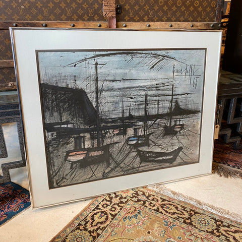 Bernard Buffet Etching of Boats