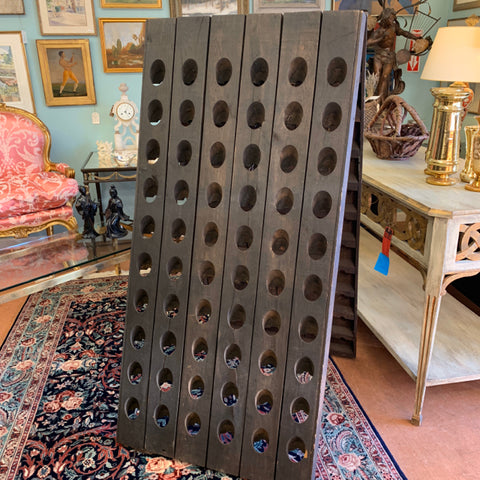 Wood French Riddler Wine Rack