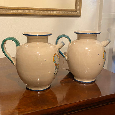 Italian Oil and Vinegar Pottery Pitchers