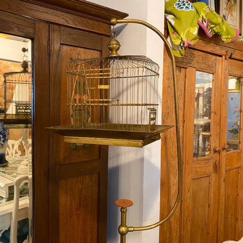 Brass Hendryx Standing /Adjustable Bird Cage