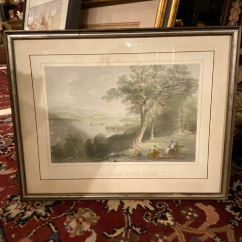 """View from Hyde Park"" Landscape Print, Framed"