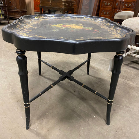 Hand Painted & Lacquered Chippendale Tray Table, Early 19th c.