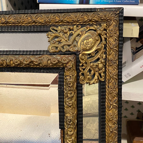 Antique Mirror Framed Mirror with Ormolu Detail